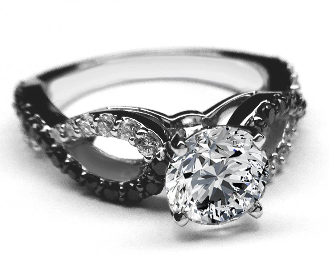 Engagement Rings : Black Engagement Ring Beautiful Black Gold In Black Gold Diamond Wedding Rings (View 7 of 15)