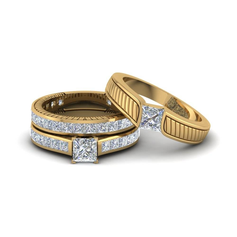 Engagement Rings – Bridal & Trio Wedding Ring Sets | Fascinating With Engagement Trio Sets (View 10 of 15)
