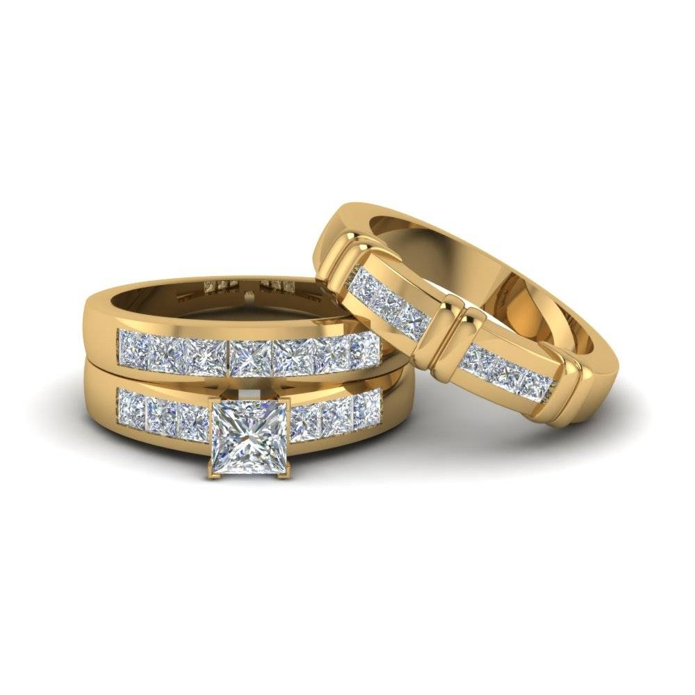 Engagement Rings – Bridal & Trio Wedding Ring Sets | Fascinating With Regard To Wedding Bands Set For Him And Her (View 5 of 15)