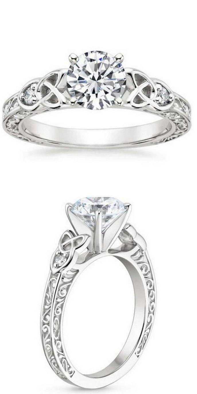Engagement Rings : Celtic Engagement Rings Beautiful Irish In Irish Claddagh Engagement Rings (Gallery 15 of 15)