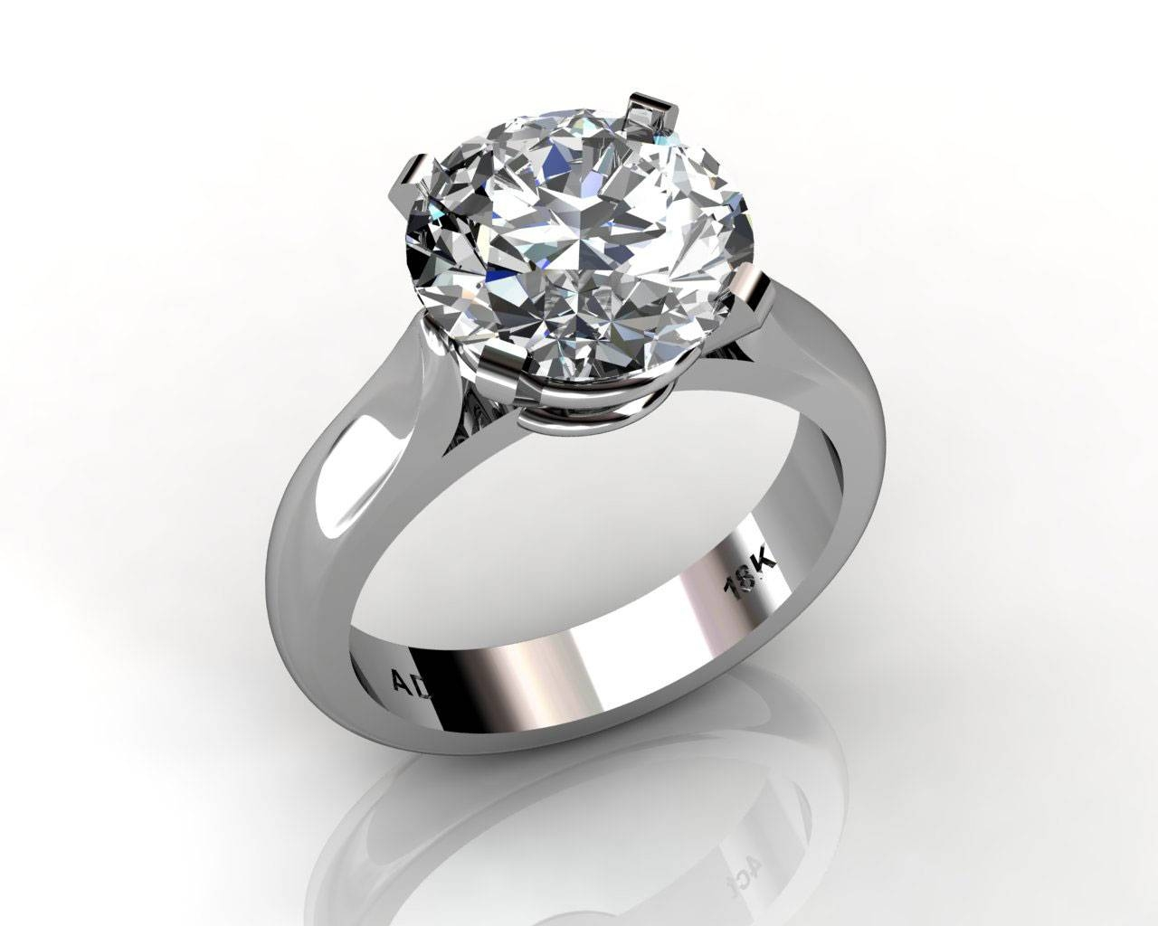Engagement Rings – Custom Design – South Bay Gold Regarding Wedding Rings To Go With Solitaire Engagement Rings (View 14 of 15)