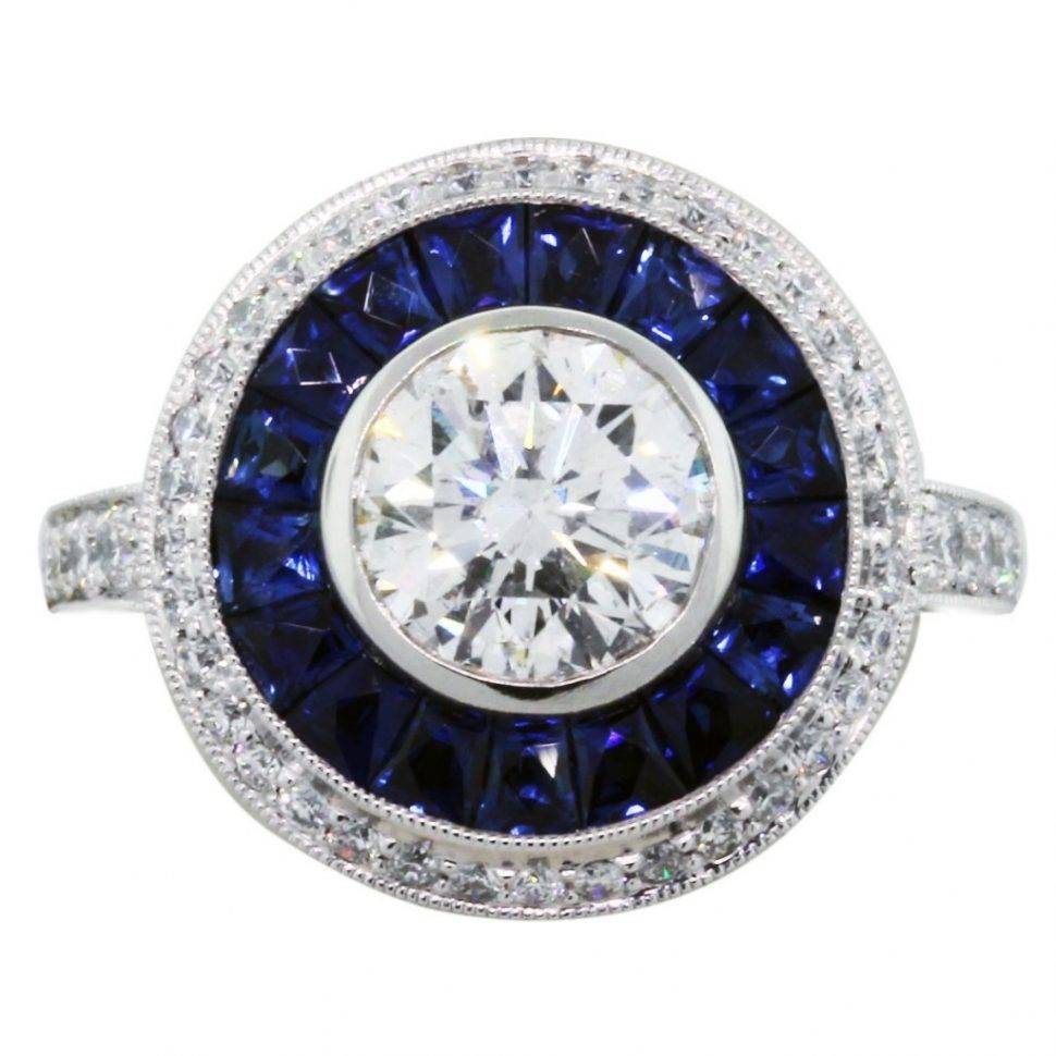 Engagement Rings : Diamond And Blue Sapphire Engagement Rings With Regard To Engagement Rings With Saphires (View 5 of 15)