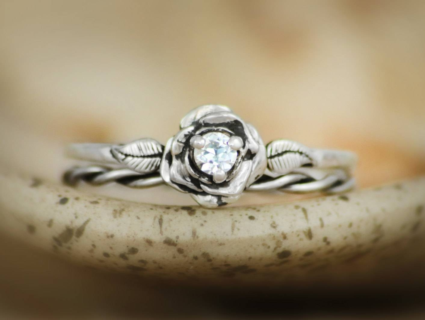 Engagement Rings : Diamond Ring Wonderful Pearl Engagement Rings For Diamond Alternative Wedding Rings (View 2 of 15)