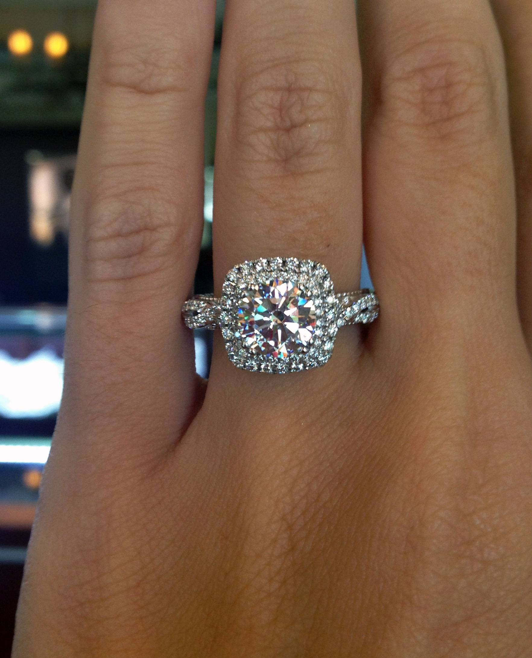 Engagement Rings : Diamond Solitaire Ring 1 4 Carat Princess Cut Inside Size 4 White Gold Engagement Rings (View 8 of 15)