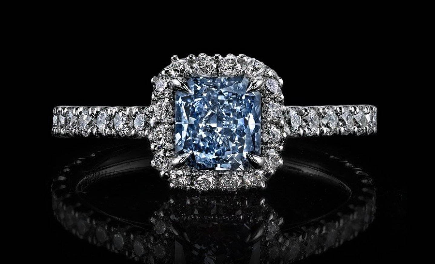Engagement Rings : Endearing Blue Diamond Engagement Rings Zales Inside Zales Blue Diamond Engagement Rings (View 7 of 15)