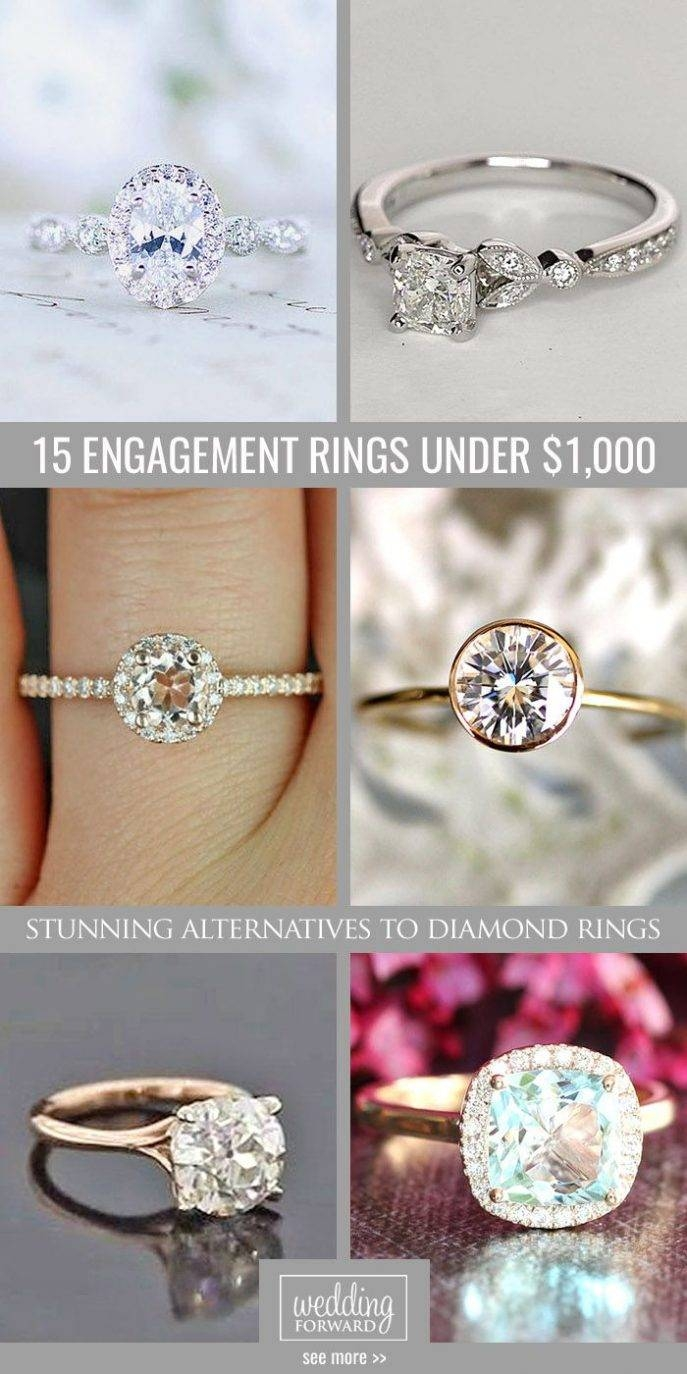 Engagement Rings : Engagement Ring And Wedding Band Set Stunning In Affordable Engagement Rings Under  (View 4 of 15)