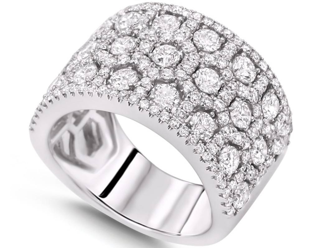 Engagement Rings : Engagement Rings For Women Awesome Engagement With Diamond Band Wedding Rings (View 13 of 15)