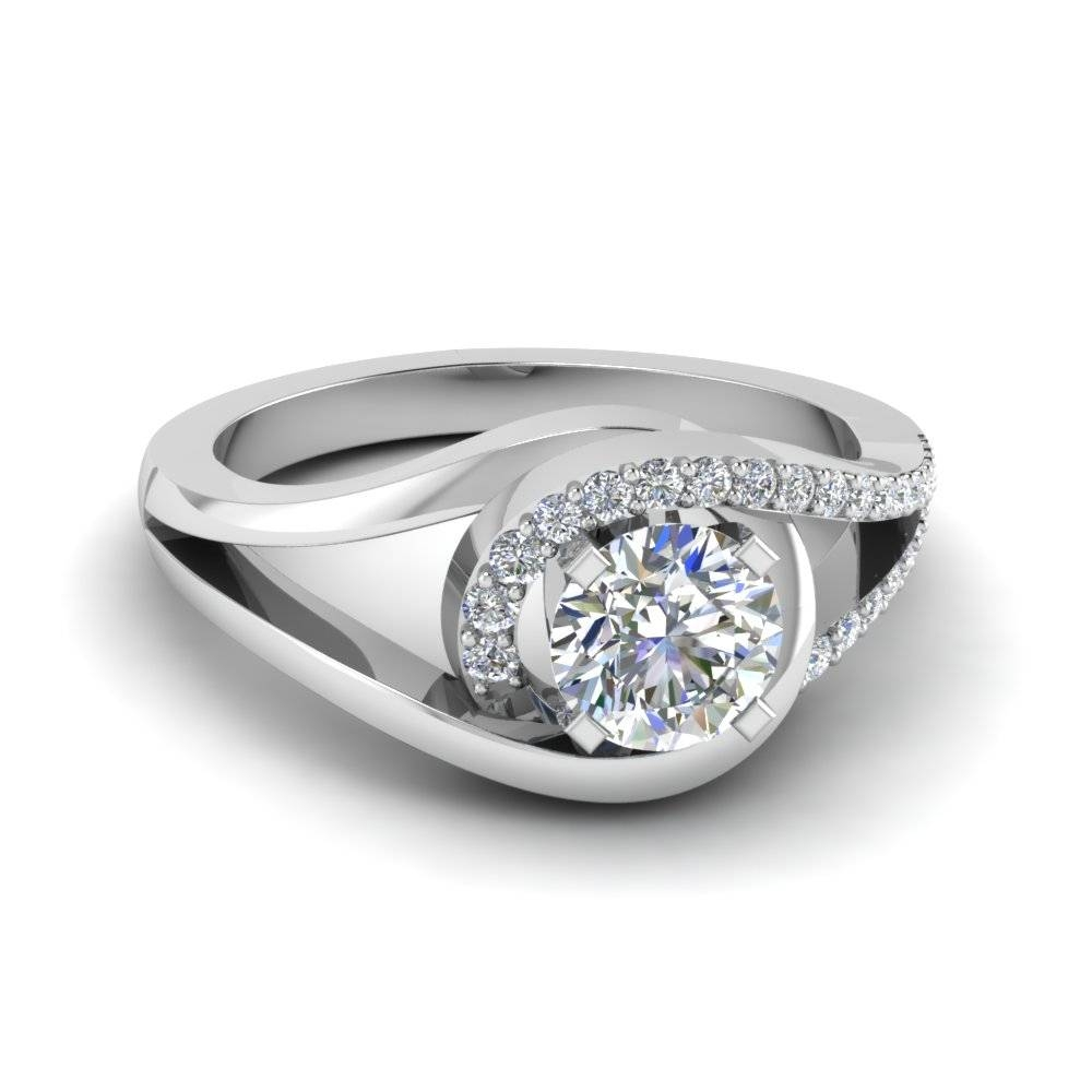 Engagement Rings – Exclusive Split Shank Engagement Rings In Split Shank Wedding Rings (View 4 of 15)