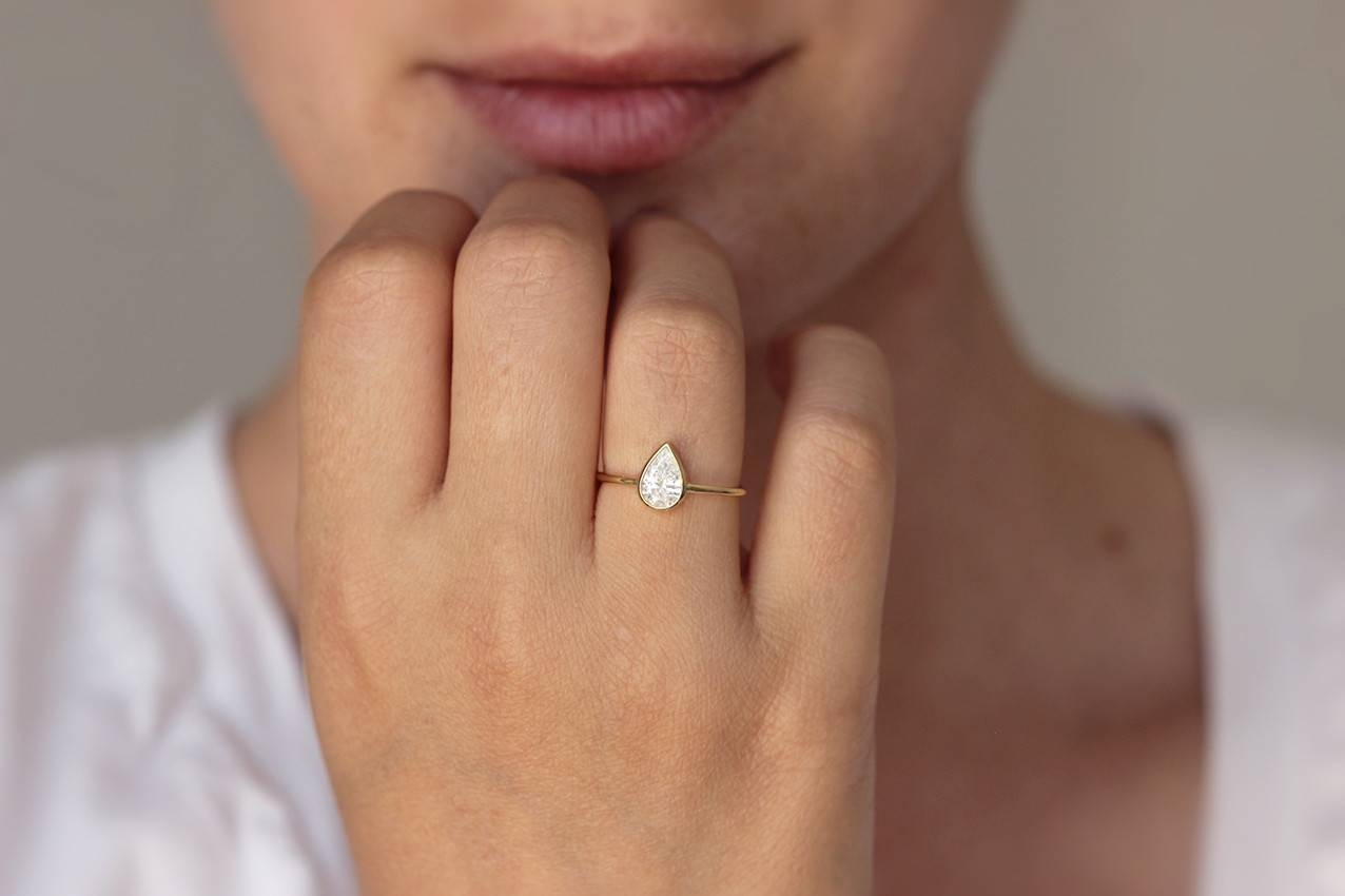 Engagement Rings : Famous Pear Shaped Engagement Rings Amazing Regarding  (View 11 of 15)