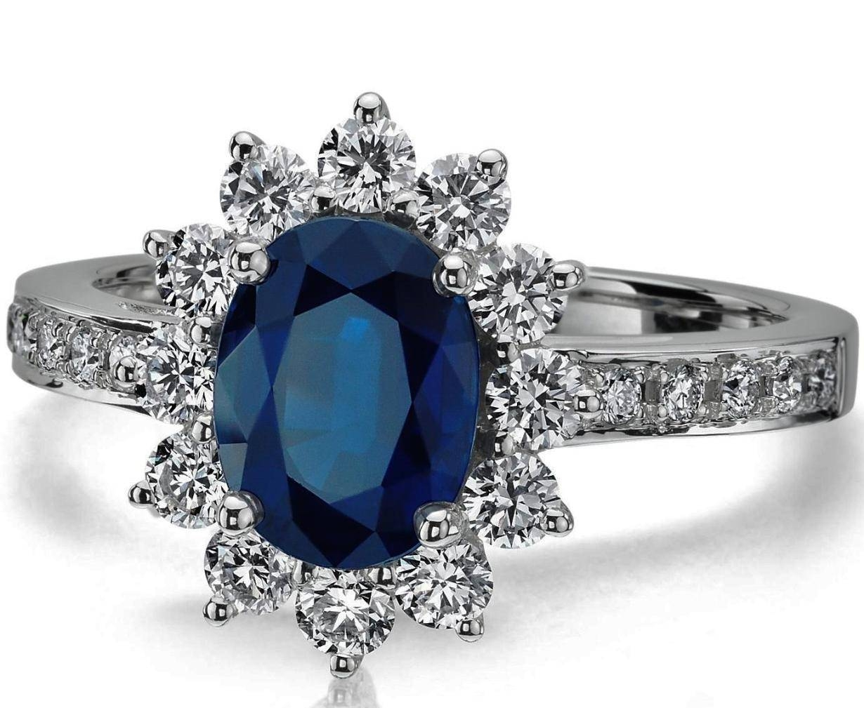 Engagement Rings : Gemstone Rings Stunning Engagement Rings Blue Inside Wedding Rings With Diamonds And Sapphires (View 9 of 15)