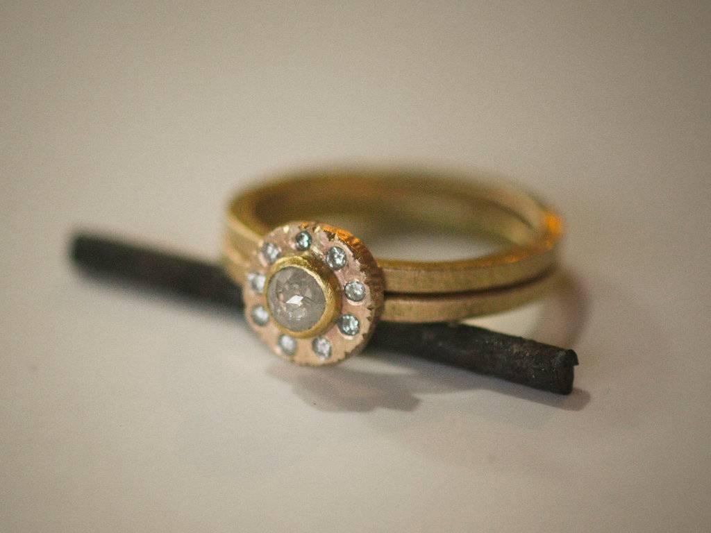 Engagement Rings Halo Setting Handmade Weddings On Etsy 20 For Hand Made Engagement Rings (View 3 of 15)