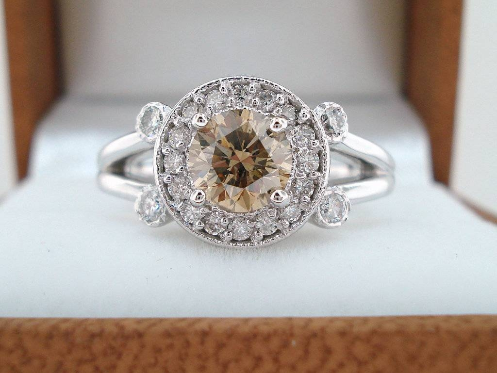 Engagement Rings Halo Setting Handmade Weddings On Etsy (View 6 of 15)