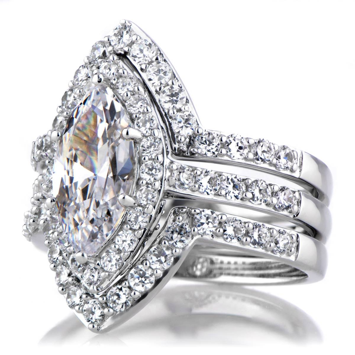 Engagement Rings : Jewelry Sterling Silver Canary Cubic Zirconia For Engagement Rings And Wedding Rings Sets (View 5 of 15)