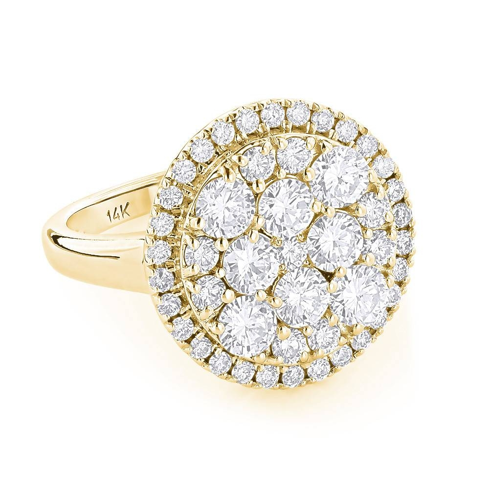 Engagement Rings: Ladies Cluster Diamond Ring  (View 9 of 15)