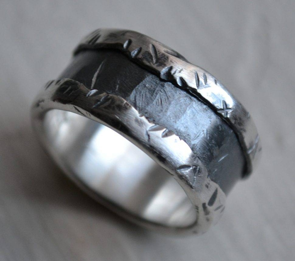 Engagement Rings : Mens Wedding Band Fine Silver And Awesome With Regard To Handmade Men's Wedding Bands (View 3 of 15)