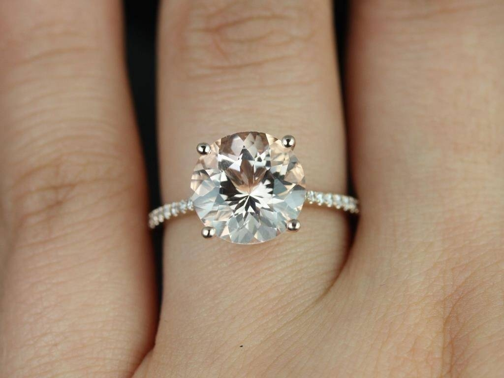 Engagement Rings : Momentous Round Solitaire Engagement Rings With Regarding Skinny Diamond Wedding Bands (View 15 of 15)