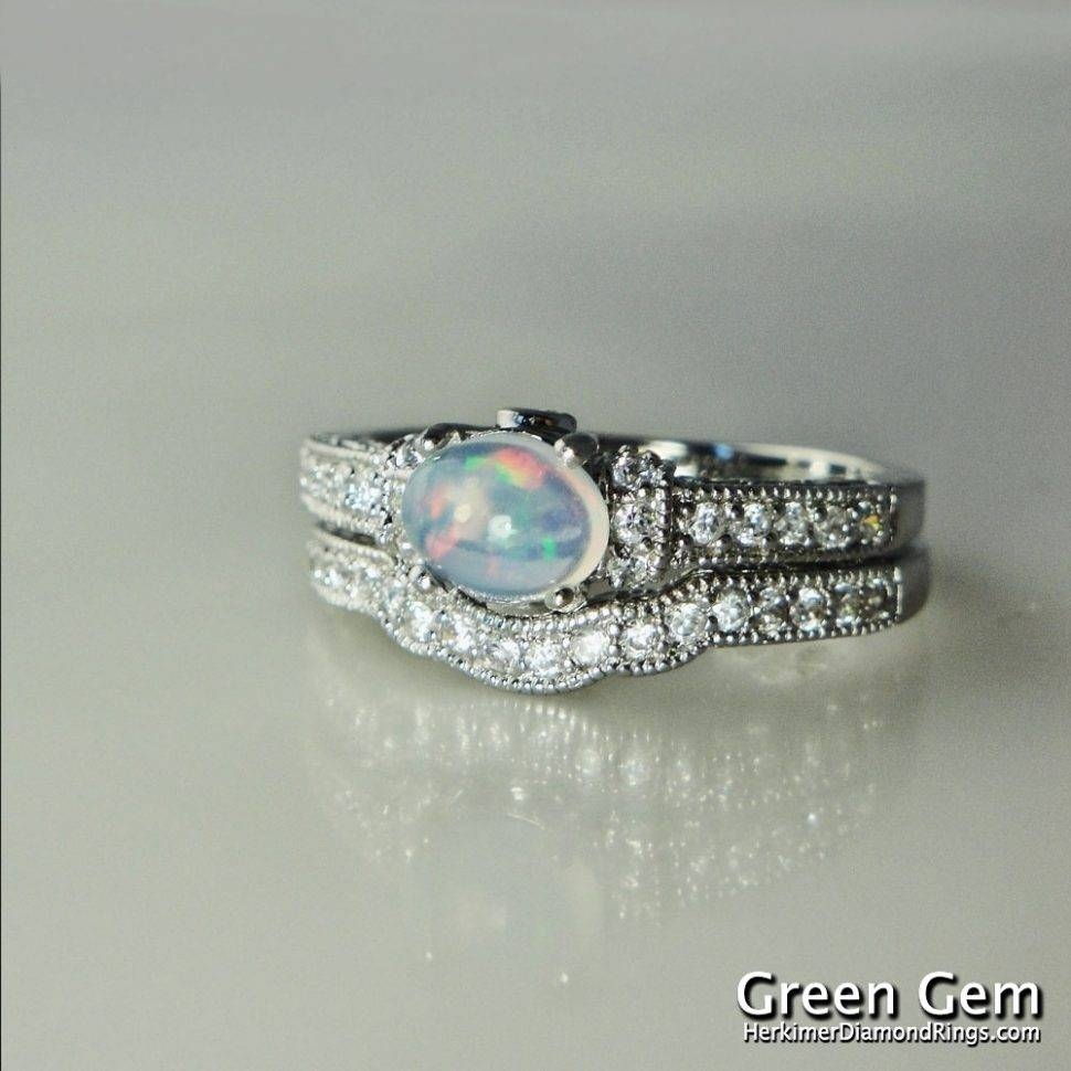 Engagement Rings : Outstanding Opal Wedding Ring Ideas Awesome Throughout Opal Wedding Bands (View 5 of 15)