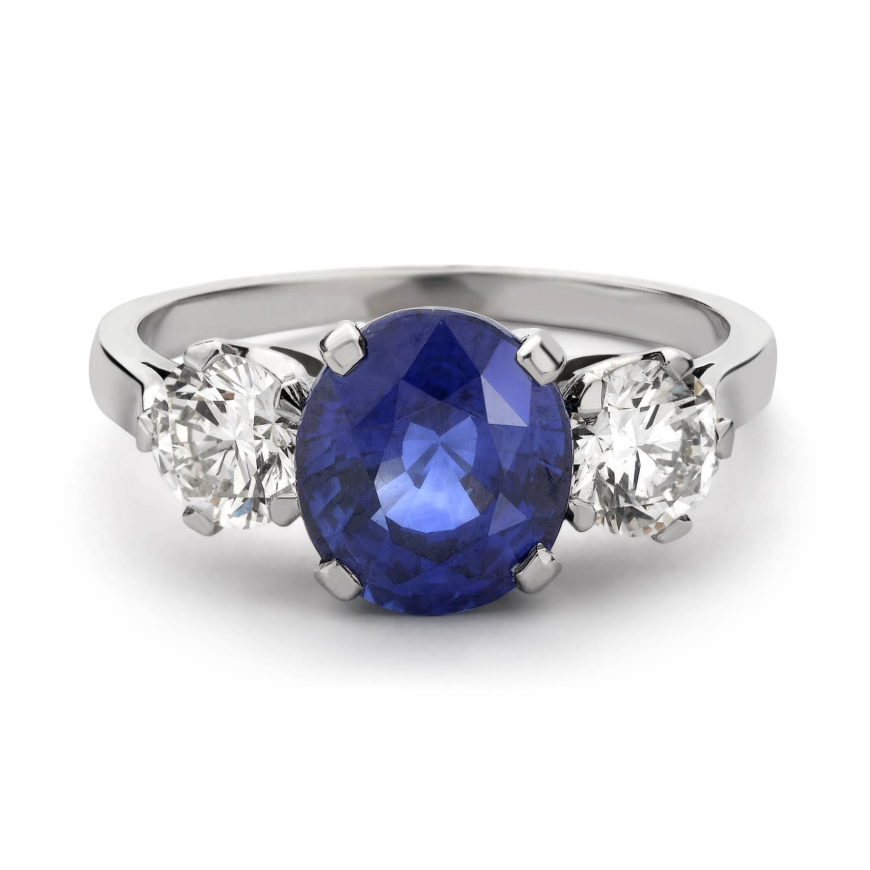 Engagement Rings : Sapphire Halo Round Vintage Engagement Ring In In Sapphire Wedding Rings (View 11 of 15)