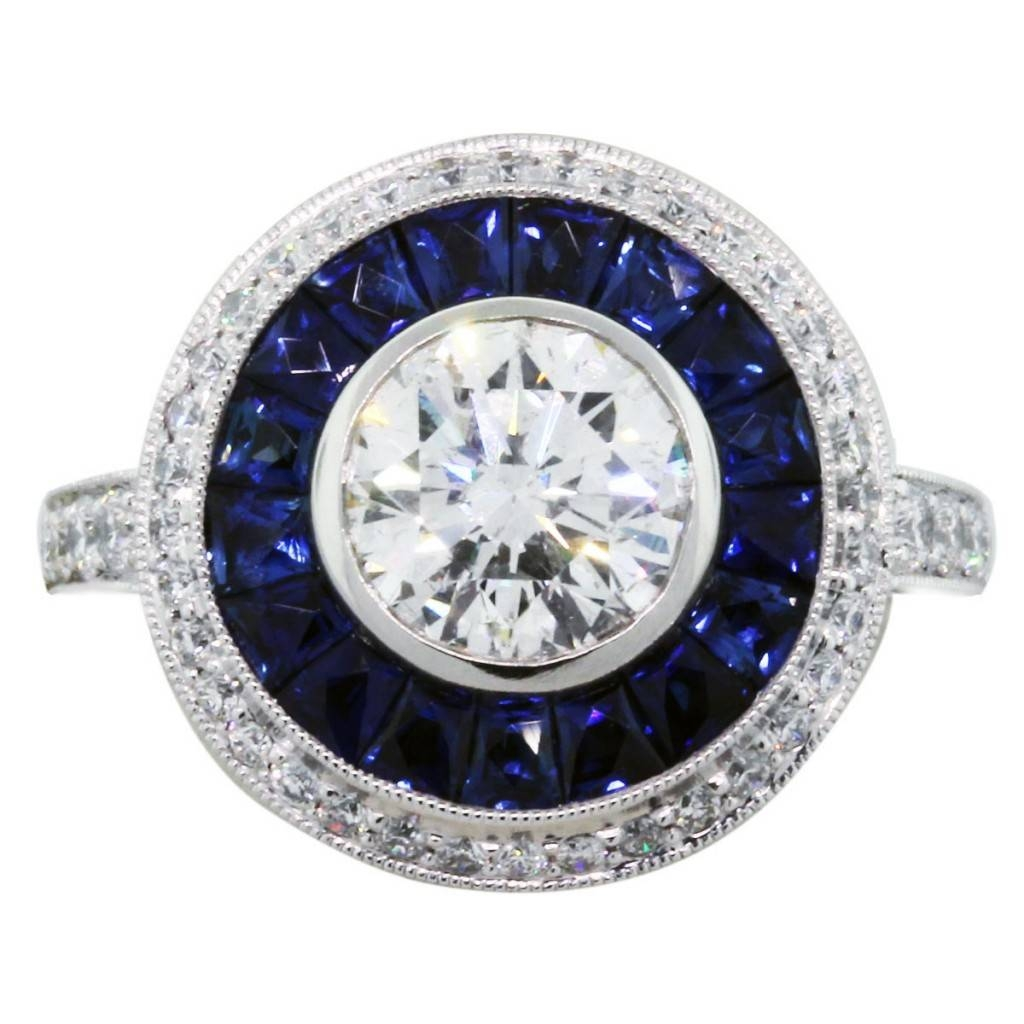 Engagement Rings : Sapphire Wedding Rings Awesome Diamond Intended For Sapphires Engagement Rings (Gallery 9 of 15)