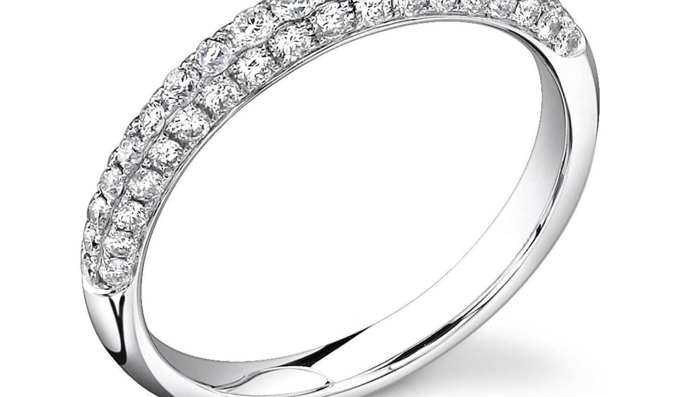 Engagement Rings : Simple Diamond Ring Beautiful Engagement Rings Inside Wedding Rings With Diamonds All Around (View 7 of 15)