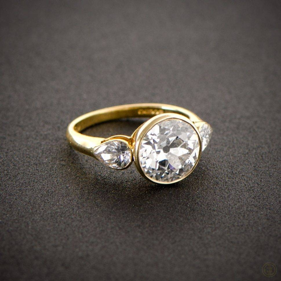 Engagement Rings : Stunning Engagement Rings Pear Shaped Pear Throughout Vintage Engagement Rings Northern Ireland (Gallery 3 of 15)