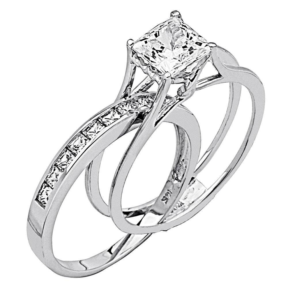 Engagement Rings : Superb Princess Cut Diamond Engagement Ring And Throughout Engagement Rings With Wedding Bands Sets (View 10 of 15)
