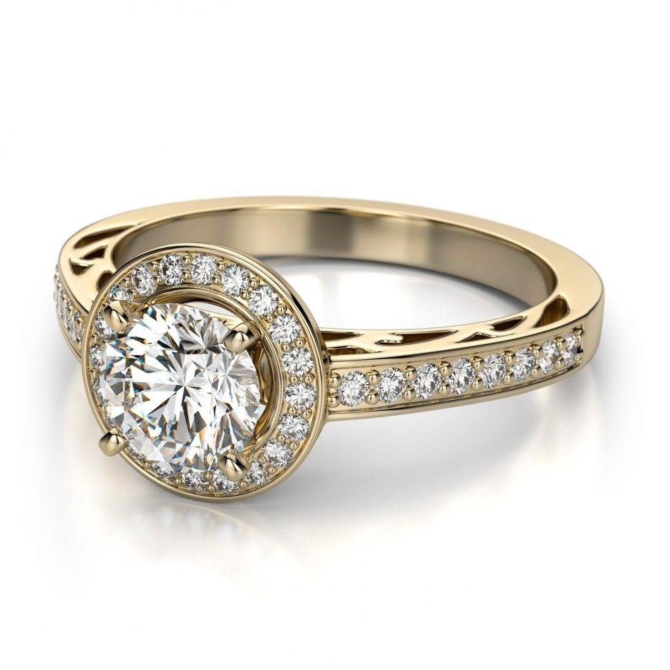 Engagement Rings : Vintage Gold Wedding Rings Stunning Real With Engagement Rings Under  (View 8 of 15)