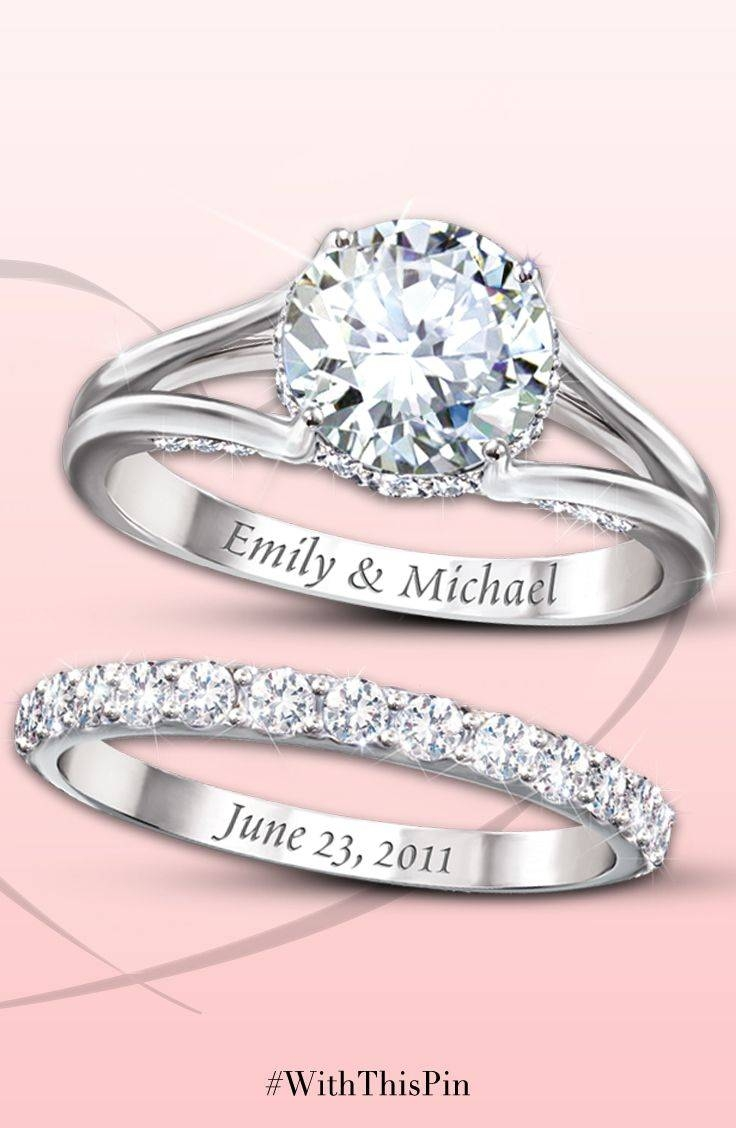 Engagement Rings : Wedding Bands Amazing Engraved Engagement Rings Within Engravings On Wedding Rings (View 13 of 15)