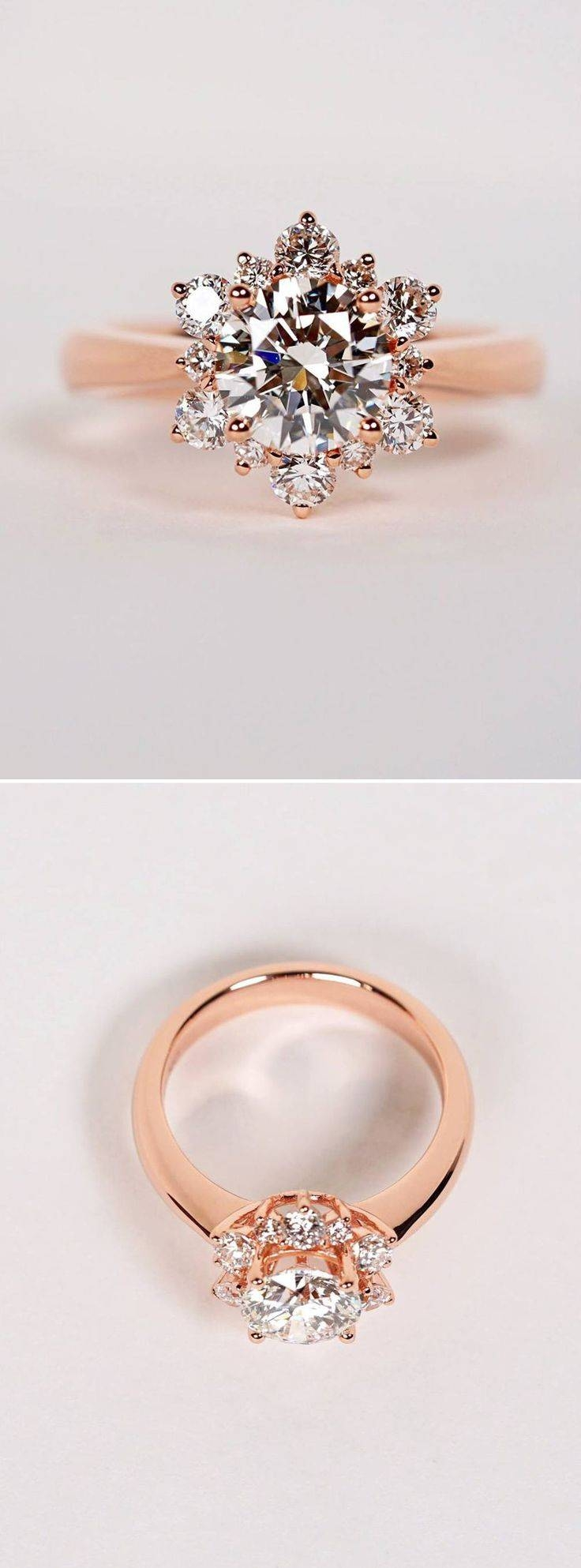 Engagement Rings : Wedding Rings Rose Gold Amazing Engagement In Light Pink Wedding Rings (View 6 of 15)