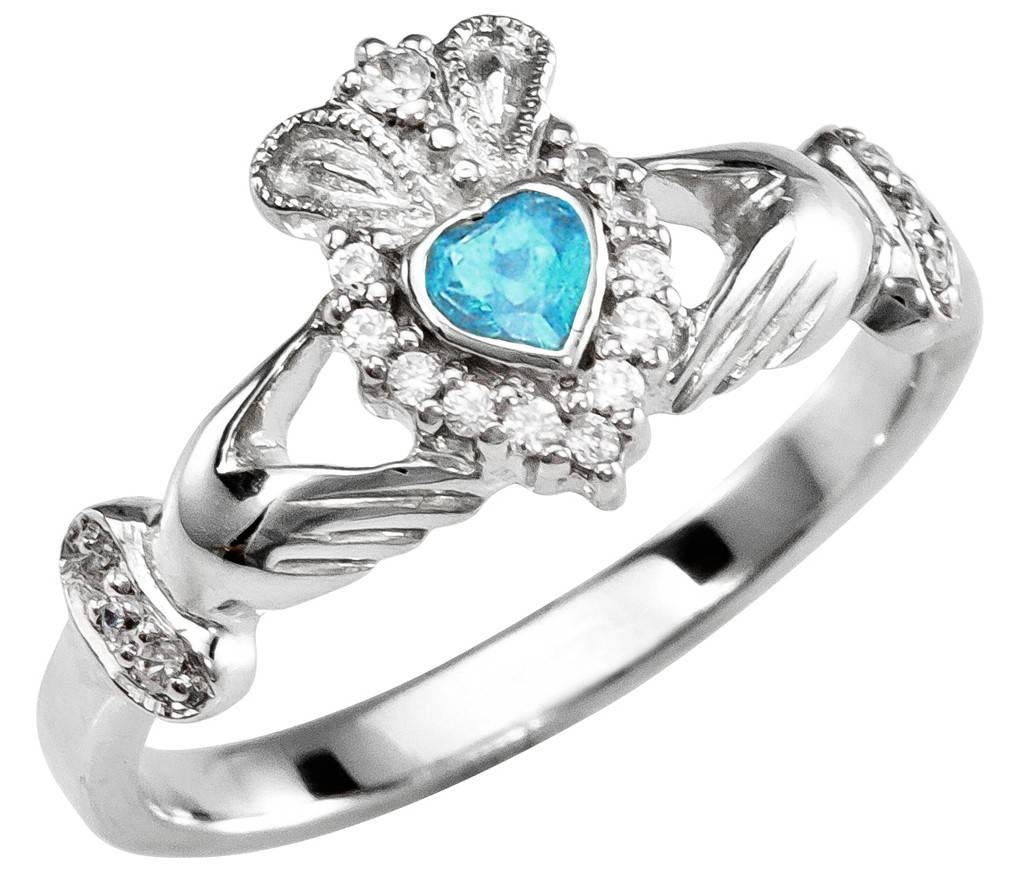 rings wedding december birthstone