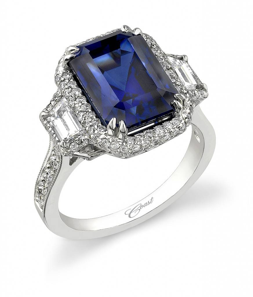 Engagement Rings : Wonderful Diamond Engagement Rings With With Sapphire And Diamond Wedding Rings (View 8 of 15)