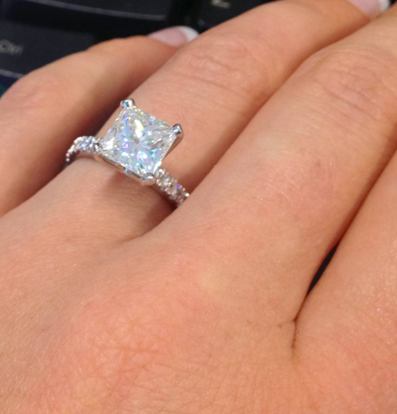Engagement Rings : Wonderful Engagement Rings Diamond Band My 1 5 With Regard To Wedding Rings With Diamond Band (View 13 of 15)