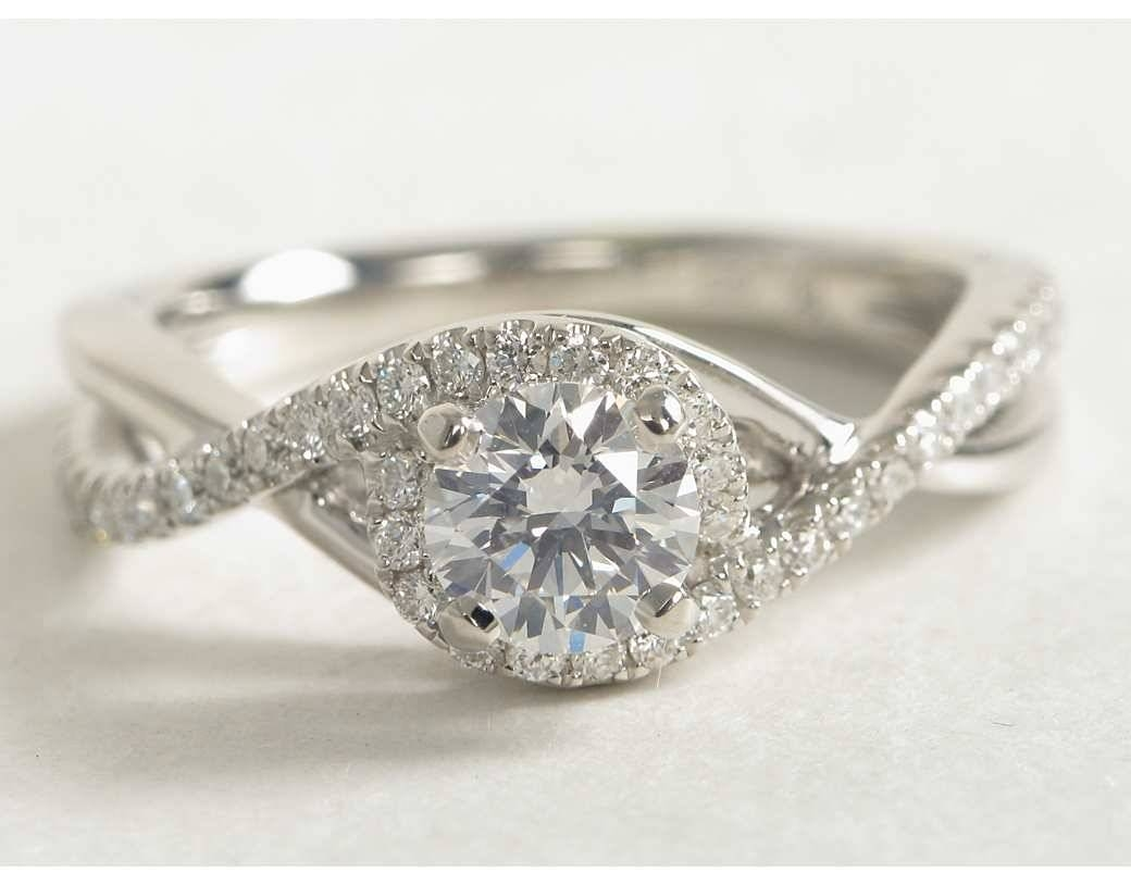 gallery engagement bespoke platinum down steven cut style custom diamond crossover jewellery stone twist ring rings