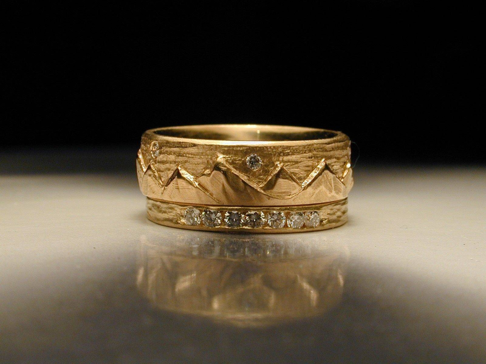 s mountain womens carved custom men mens by rings jimdailing crafted hand women made or wedding