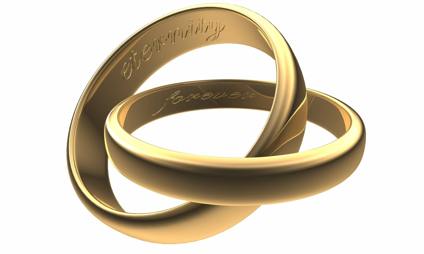 Engraved Wedding Bands | Wedding Band Engraving Regarding Interlocking Wedding Bands (View 5 of 15)
