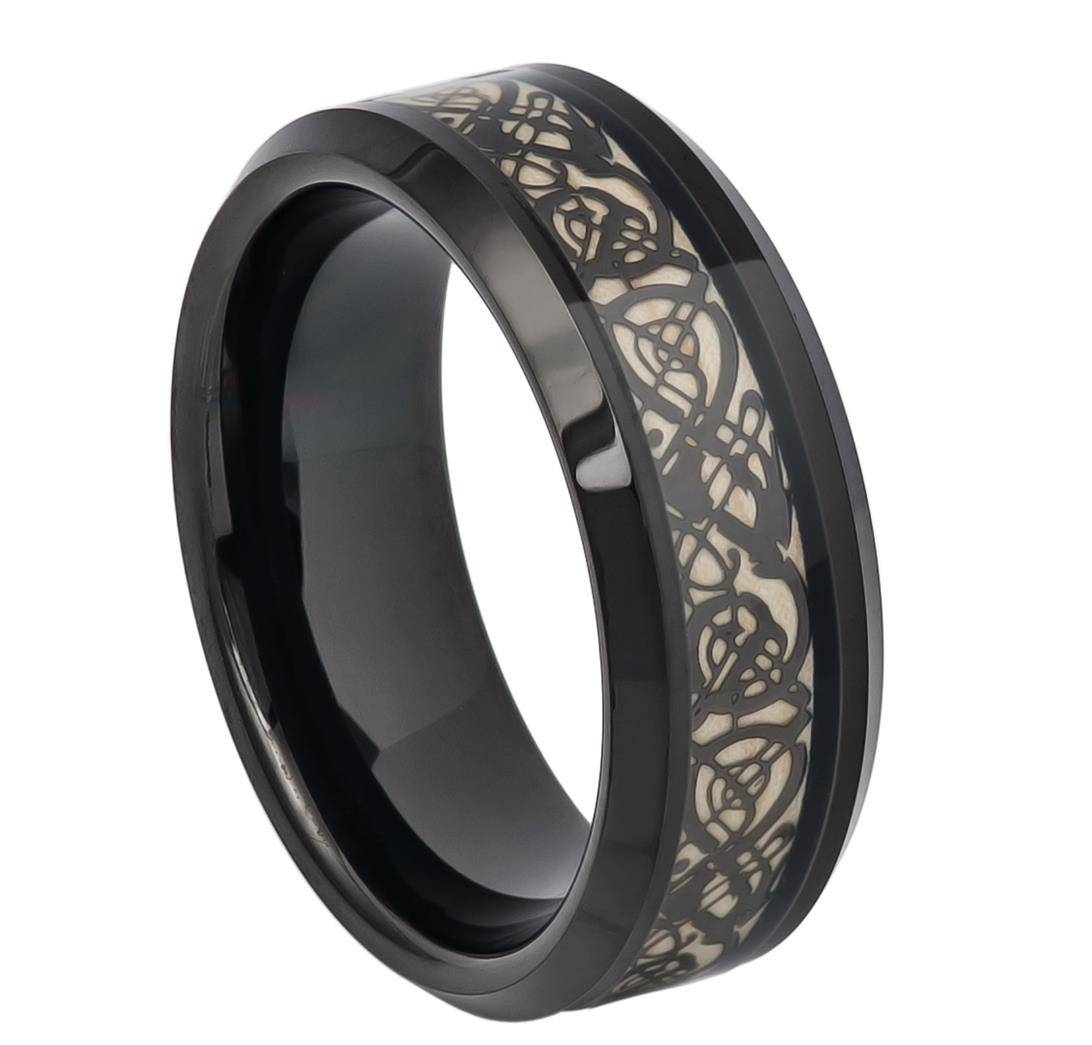 Epaphras Tungsten Celtic Cut Out Design Men's Tungsten Wedding Within Mens Custom Wedding Rings (View 4 of 15)