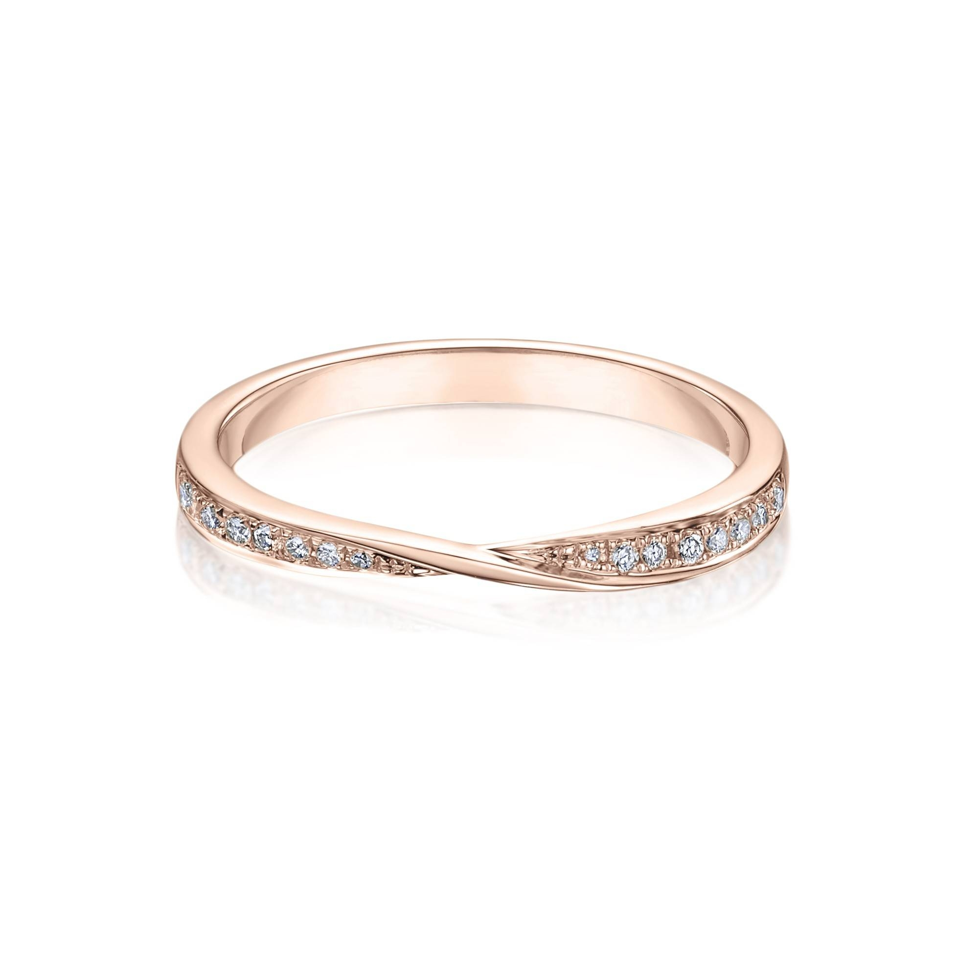 Esme Diamond Set 18Ct Rose Gold Wedding Band | Laing The Jeweller Inside Rose Gold Wedding Bands (View 5 of 15)