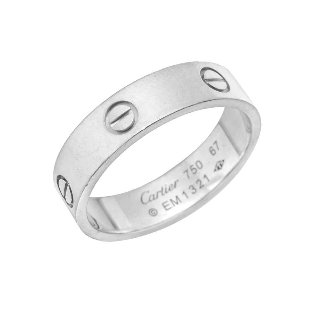 "Estate Cartier Men's 18K White Gold ""love"" Wedding Band 