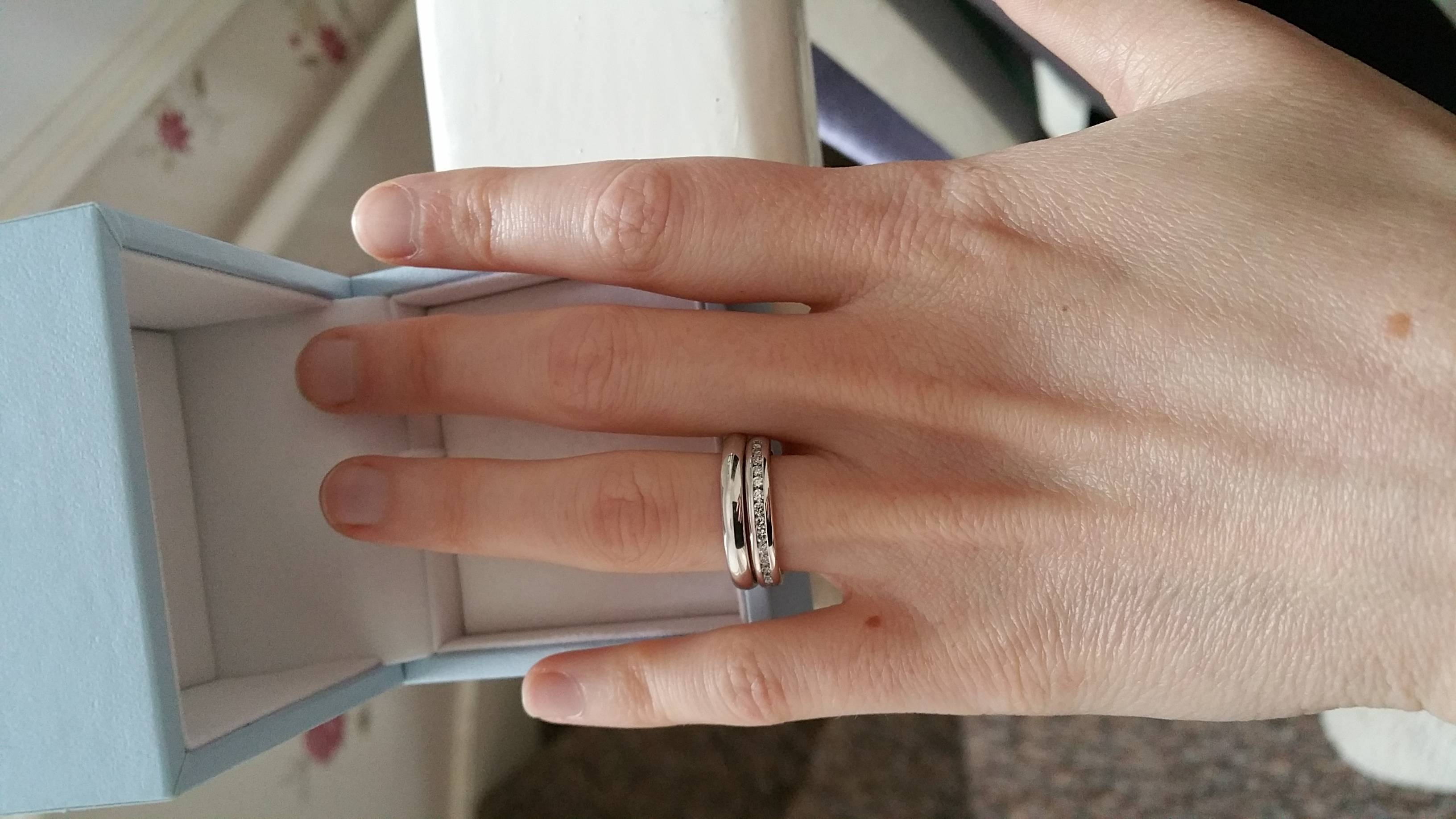 Eternity Band As Engagement Ring – Post Yours! – Weddingbee Intended For Eternity Band Wedding Rings (View 10 of 15)