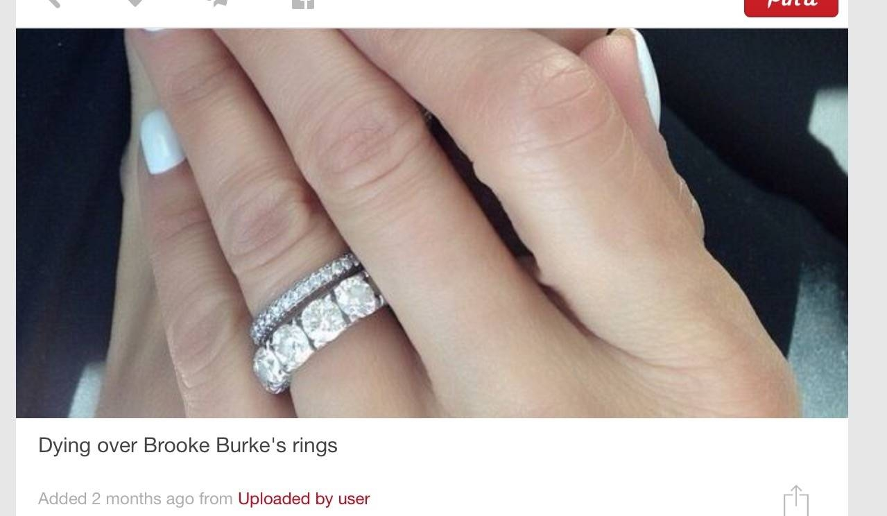 Eternity Band As Engagement Ring – Post Yours! – Weddingbee Intended For Eternity Band Wedding Rings (View 2 of 15)