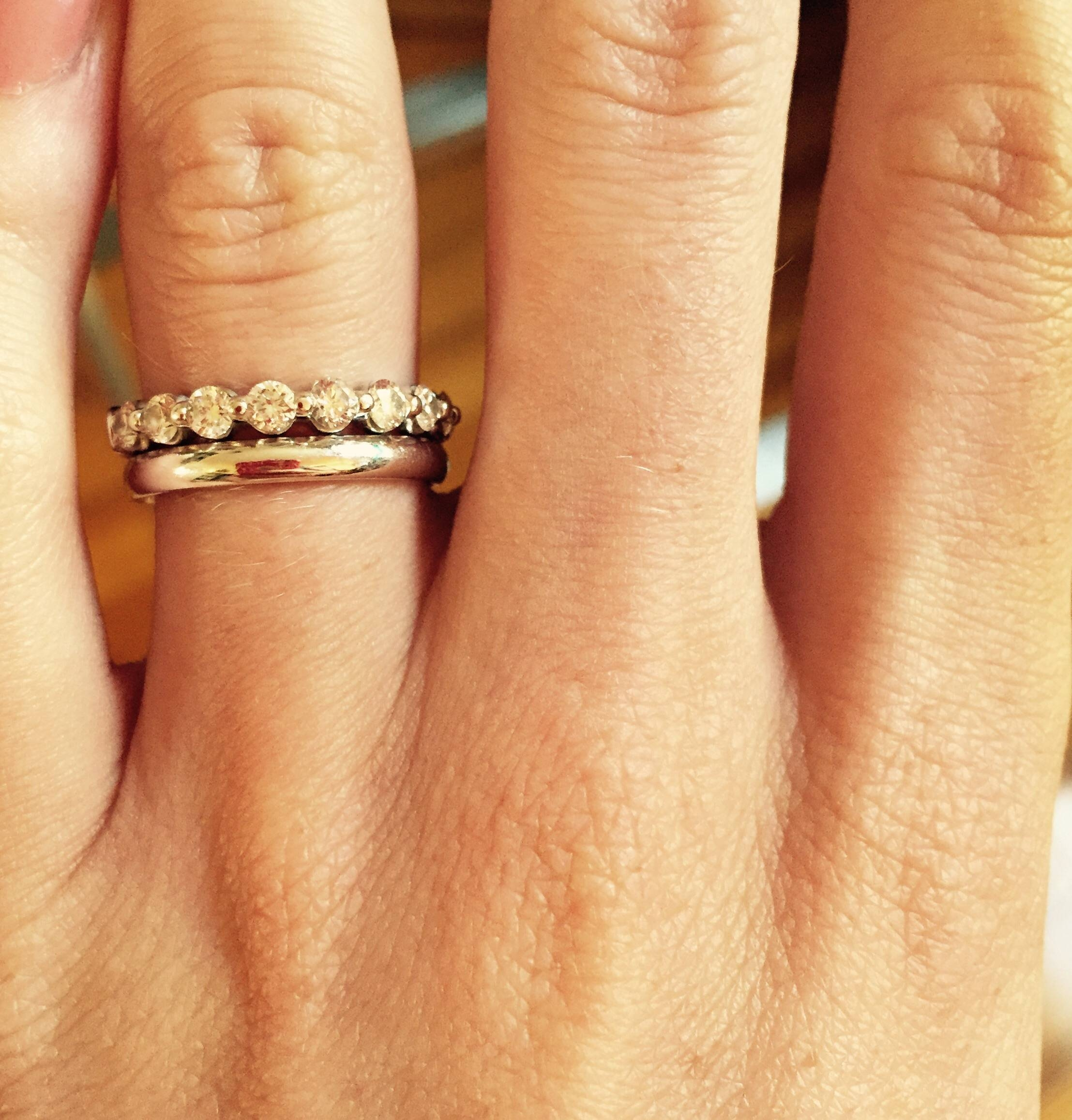 Eternity Band As Engagement Ring – Post Yours! – Weddingbee Throughout Eternity Band Wedding Rings (View 13 of 15)