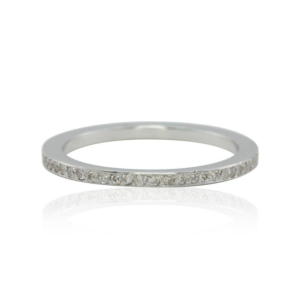 Eternity Diamond Ring – Ultra Thin Pave Diamond Wedding Band Throughout Pave Diamond Wedding Rings (View 8 of 15)