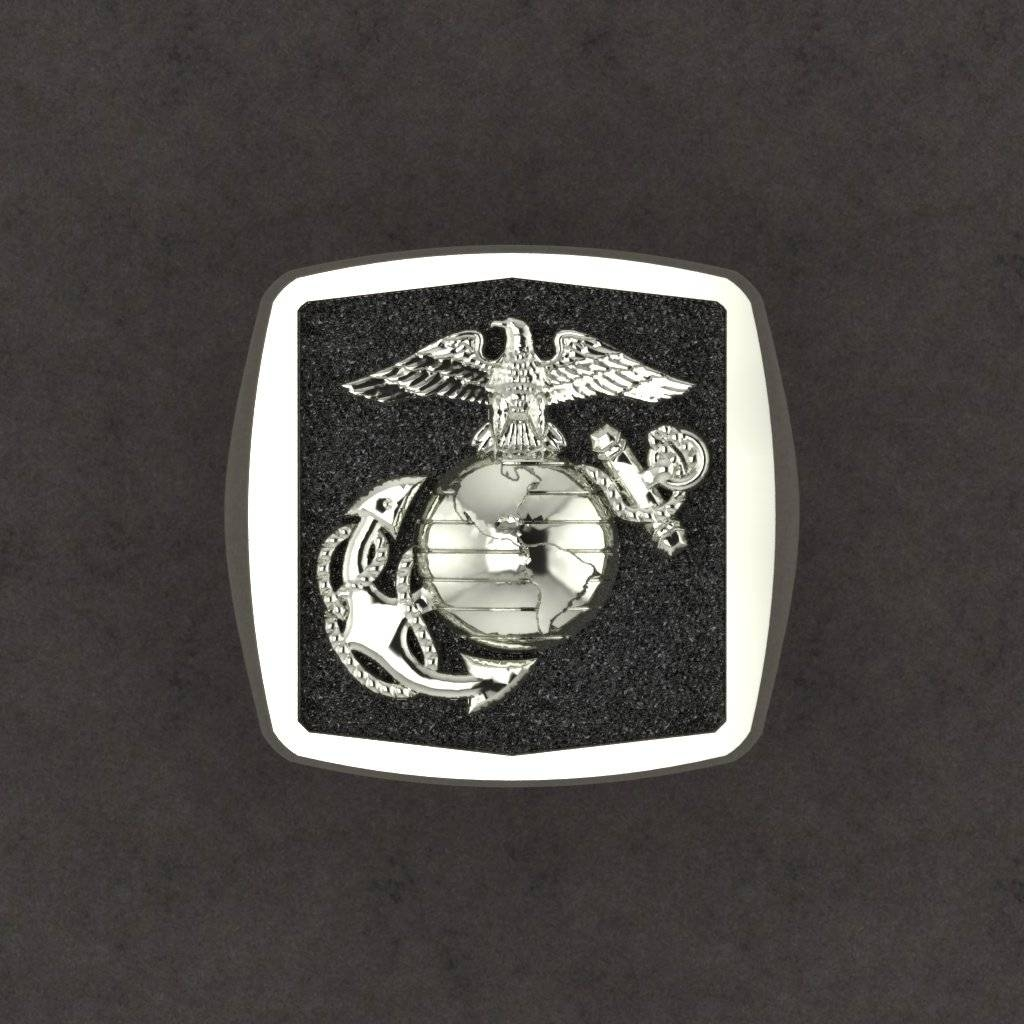 Exceptional Custom Made Marine Corps Rings Made In The Usaa Inside Marine Corps Wedding Bands (View 7 of 15)