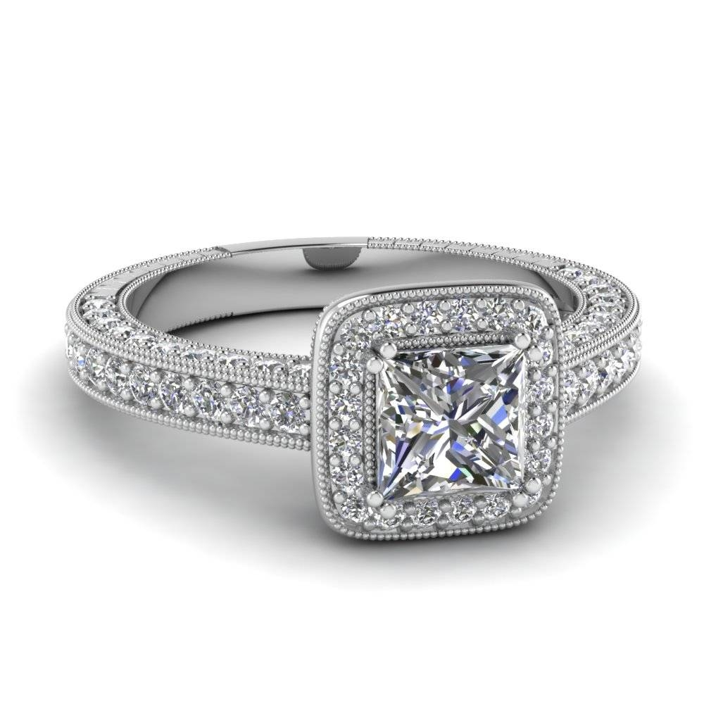 Exclusive Princess Cut Vintage Engagement Rings | Fascinating Diamonds With Antique Diamond Wedding Rings (View 7 of 15)