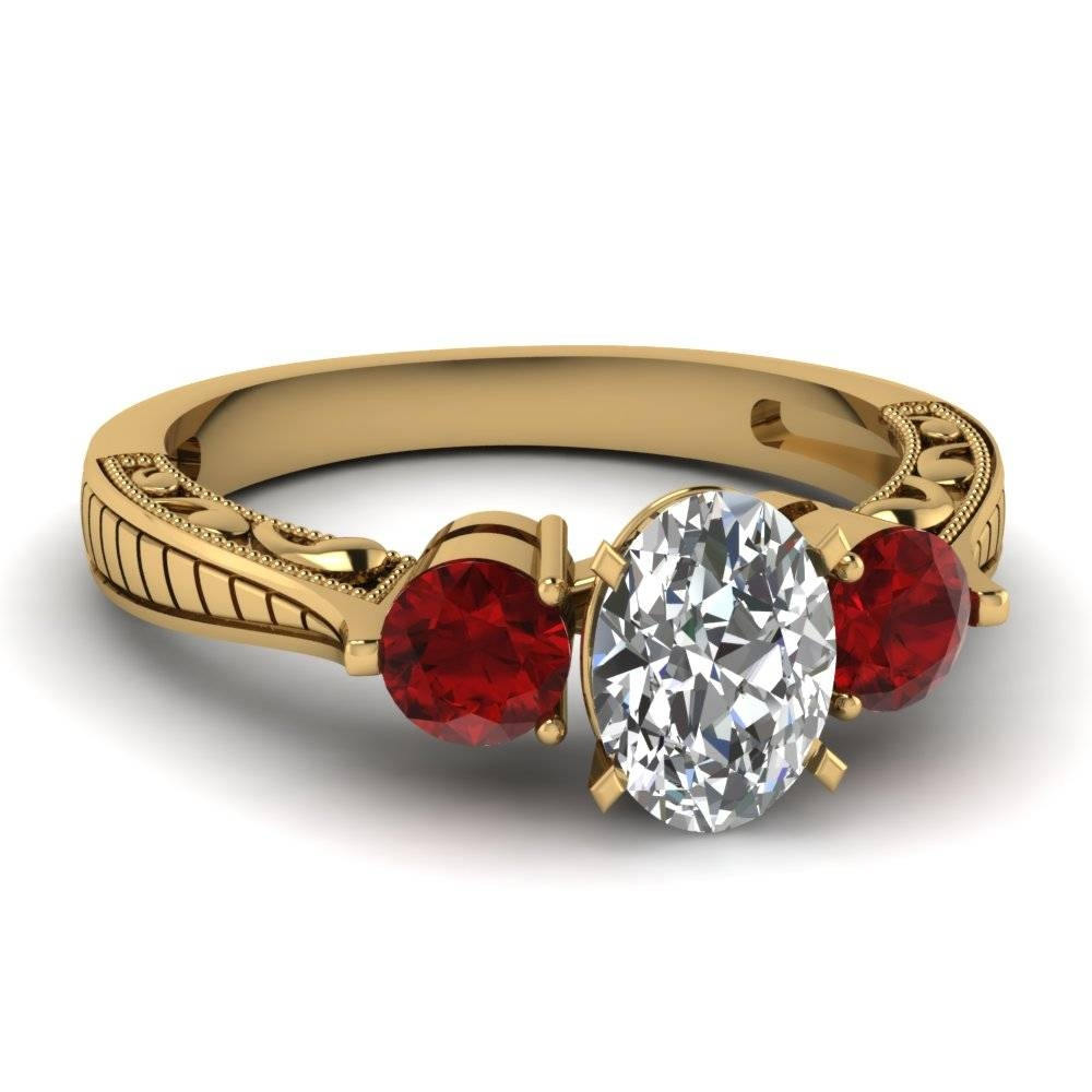 Expensive Engagement Ring For Young: White Gold Ruby And Diamond In Gold And Ruby Engagement Rings (View 5 of 15)