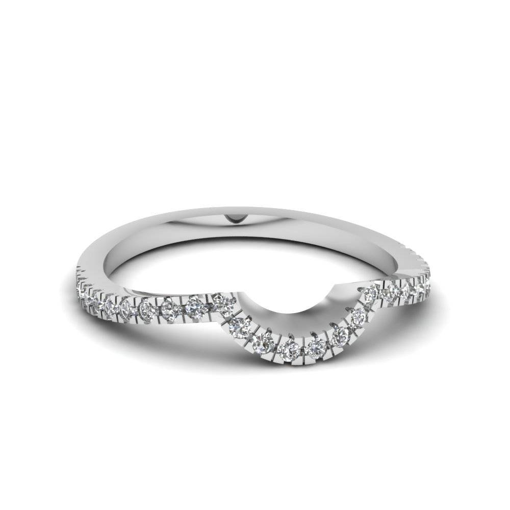Explore Our 18K White Gold Trio Wedding Ring Sets Intended For Curved Wedding Bands For Women (View 7 of 15)
