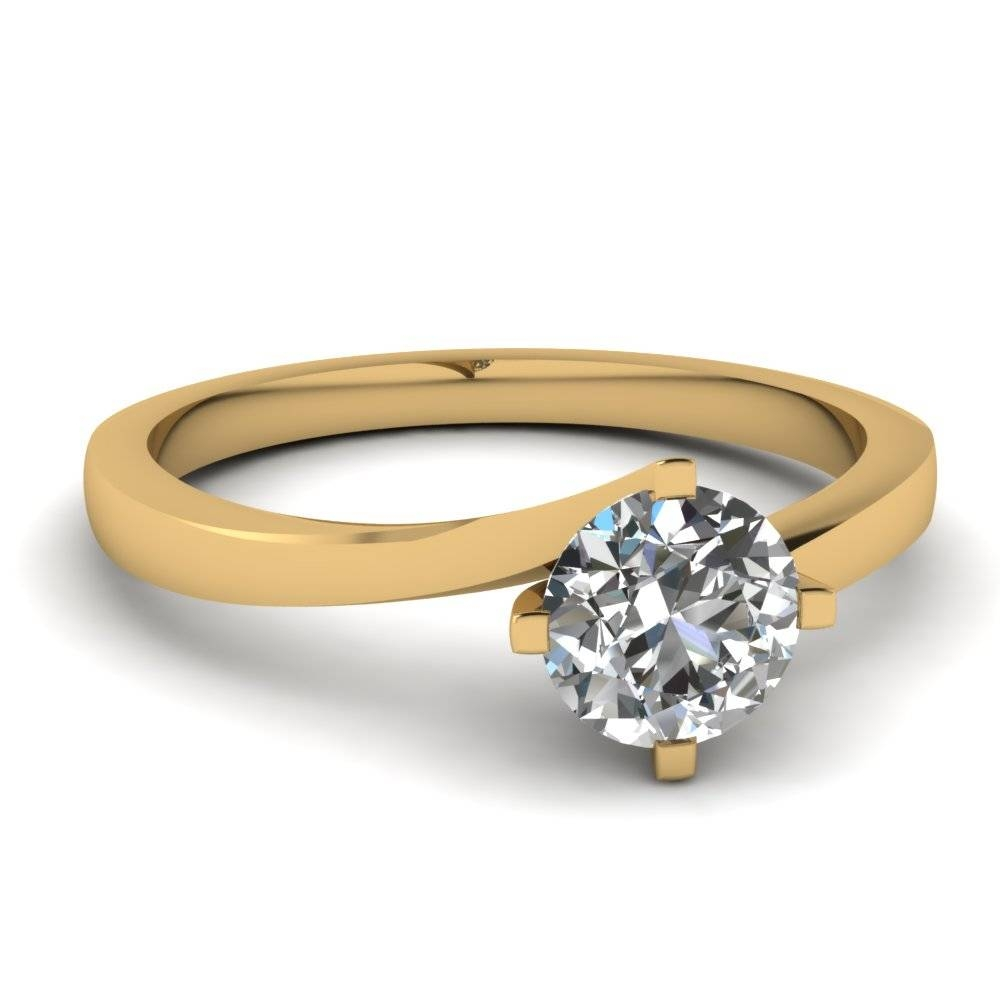 Explore Our 18K Yellow Gold Engagement Rings| Fascinating Diamonds Inside Engagement Rings 18K Yellow Gold (View 5 of 15)