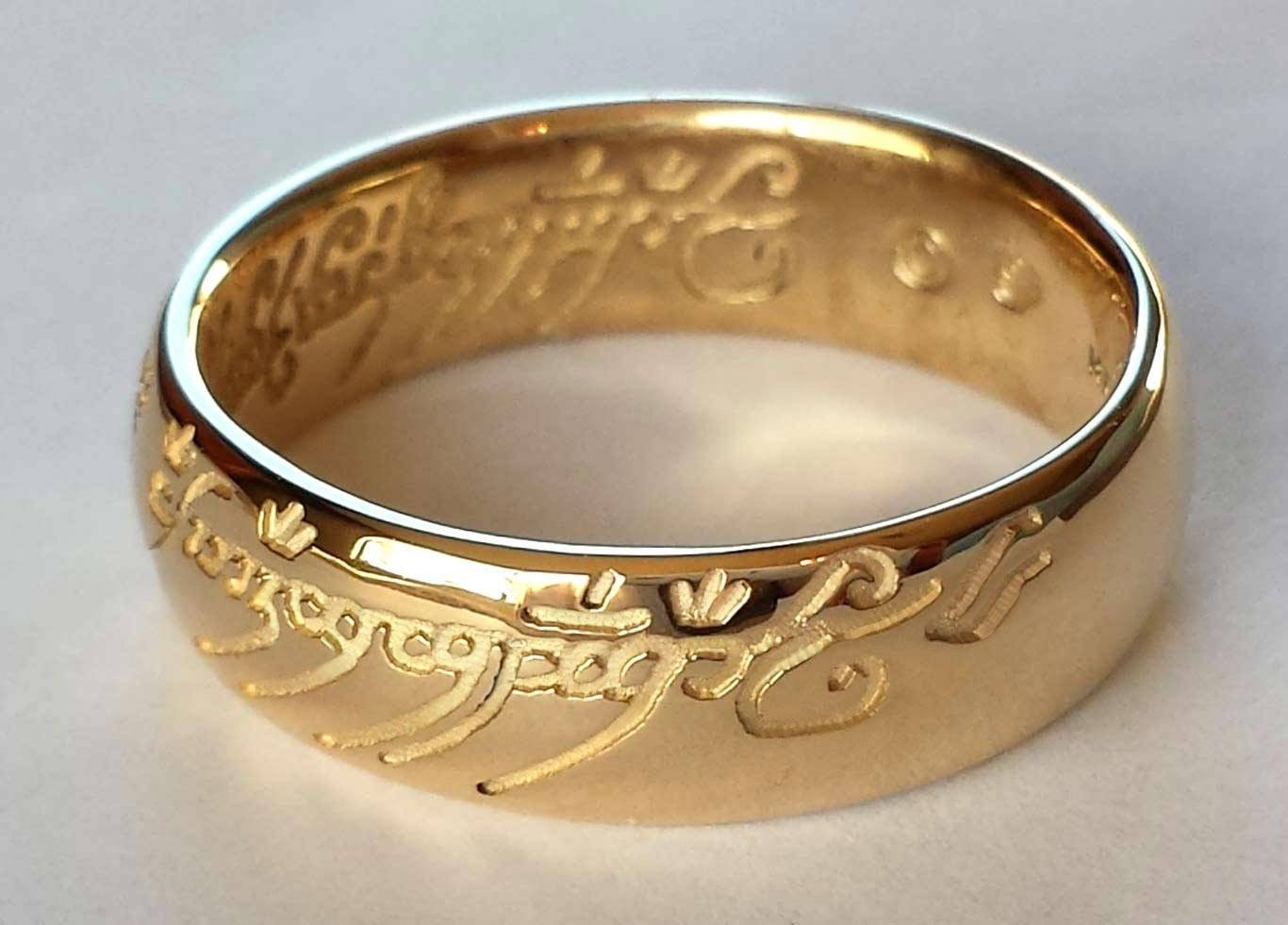 Photo Gallery of Lord Of The Rings Wedding Bands Viewing 10 of 15