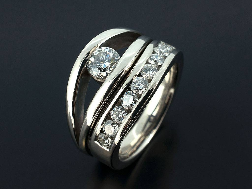 Exquisite Engagement Ring: Tension Set Engagement Rings Uk Regarding Tension Set Engagement Rings With Wedding Bands (View 1 of 15)