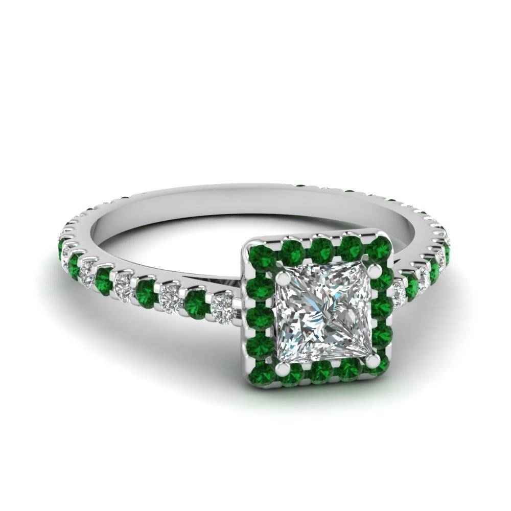 Find Our Emerald Engagement Rings | Fascinating Diamonds Throughout Princess Cut Emerald Engagement Rings (View 7 of 15)